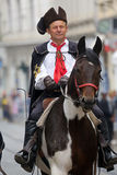 Guard of Honor of the Cravat Regiment popular tourist attraction in Zagreb Stock Photo