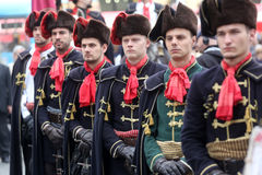 Guard of Honor of the Cravat Regiment popular tourist attraction in Zagreb Royalty Free Stock Photo