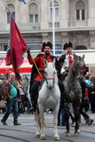 Guard of Honor of the Cravat Regiment popular tourist attraction in Zagreb Royalty Free Stock Photos