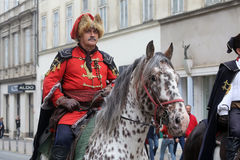 Guard of Honor of the Cravat Regiment popular tourist attraction in Zagreb Stock Photos