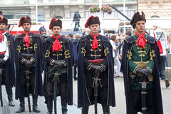 Guard of Honor of the Cravat Regiment popular tourist attraction in Zagreb Stock Image