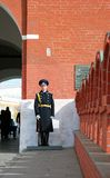 Guard of honor. Entrance to Moscow Kremlin. Stock Images