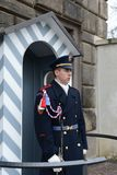 The guard of honor guards at the presidential Palace in Prague castle Stock Images