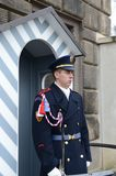 The guard of honor guards at the presidential Palace in Prague castle. Royalty Free Stock Images
