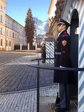The guard of honor guards at the presidential Palace Royalty Free Stock Images