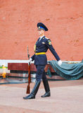Guard of honor at the Kremlin wall in Moscow, Russia Royalty Free Stock Image
