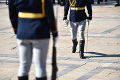 Guard of honor during a military ceremony Stock Photos