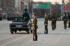 A guard of honor at a military parade Stock Photography