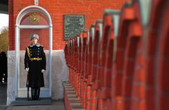 Guard of honor. Moscow Kremlin. Royalty Free Stock Images
