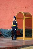 Guard of honor, Moscow, Russia. MOSCOW - APRIL 23: Guard of Honour at the tomb of the Unknown Soldier at the wall of Moscow Kremlin on April 23, 2012 in Moscow Stock Photos