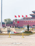 Guard of honor near flagstaff on Tiananmen Square Stock Image