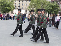 The guard of honor near the parliament building Royalty Free Stock Photography