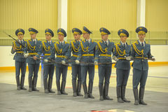 Guard of honor Performance. Performance of honor on the day armed of Russian Federation royalty free stock photo