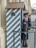 Guard of Honor. PRAGUE, CZECH REPUBLIC - MARCH 06, 2017: The guard of honor at the presidential Palace in Prague castle Royalty Free Stock Image