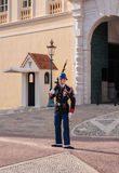 Guard of honor at residence of Prince of Monaco. Royalty Free Stock Photos