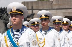 Guard of honor at Victory Day celebration in Kyiv, Ukraine Stock Photography