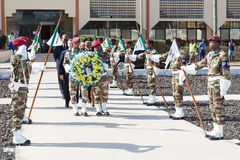 Guard of honor with wreath Royalty Free Stock Photo