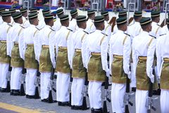 Guard of Honour. Mounted by the Malaysian Armed Forces Stock Photo