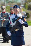 Guard of honour. Girl Stock Photography