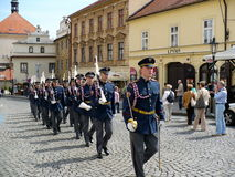 Guard of honour of Prague Castle Stock Photo