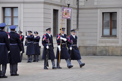 Guard of honour of Prague Castle Royalty Free Stock Images