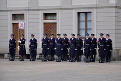 Guard of honour of Prague Castle Stock Images