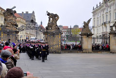 Guard of honour of Prague Castle Royalty Free Stock Photography