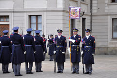 Guard of honour of Prague Castle Stock Photos