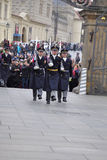 Guard of honour of Prague Castle Stock Image