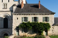 The guard house of Fontevraud Abbey stock photo