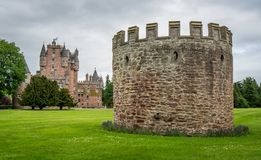 Guard House. On the front lawn of Bemis Castle in Scotland Stock Photography