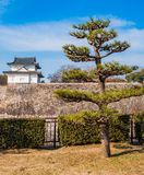 Guard House. The Osaka Castle guard house at the edge of the complex wall Stock Photos