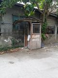 Guard House. This is a poorly-constructed and usually-unattended guard house in Metro Cebu, Philippines stock photo