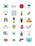 Guard icons set. Set of 24 guerd icons Stock Photo