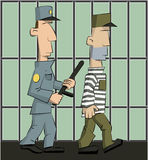 Guard is jailed Royalty Free Stock Images