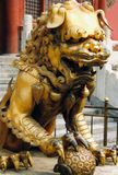 Guard Lion. Lion guarding the Forbidden City, Beijing, China royalty free stock photography