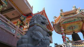 The guard. The lion is like the guard to protect the temple in Chinese architecture Stock Image
