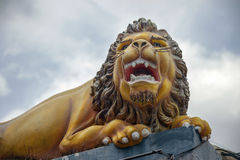 Guard lion statue Royalty Free Stock Images
