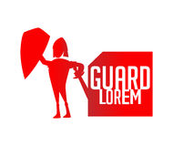 Guard Logo Concept Royalty Free Stock Photography