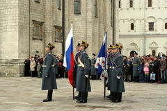 Guard of the Moscow Kremlin Royalty Free Stock Images
