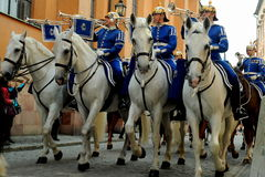 Guard mount, Stockholm, Sweden Royalty Free Stock Photo