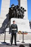 Guard in National War Memorial, Ottawa Stock Photo