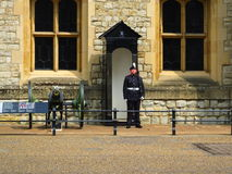 Guard outside of the crown jewels at the Tower of London Stock Photography
