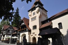 Guard Pavilion of Peles Castle Domain from Sinaia in Romania Stock Photography
