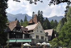 Guard Pavilion of Peles Castle Domain from Sinaia in Romania Royalty Free Stock Photo