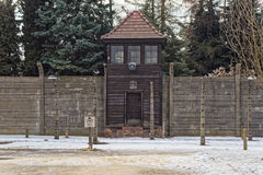 Guard Post at Auschwitz Royalty Free Stock Images