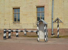 Guard post about the Big Gatchina palace. Russia Stock Image