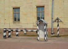 Guard post about the Big Gatchina palace. Russia Stock Image