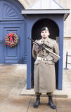 The guard on the post. Grand Duchy of Luxembourg, Luxembourg- January 03,2017: The guard on the post Stock Photos