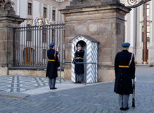 Guard at Prague Castle Royalty Free Stock Photos